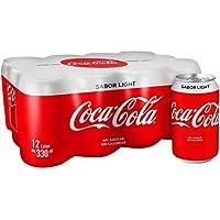 Coca-Cola - Light, Refresco con gas de cola, 330 ml (Pack de 12), Lata