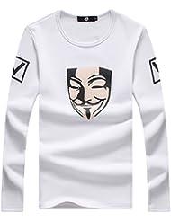 BOMOVO Camiseta básica de manga larga para Sudaderas Hombre Yardas Grandes