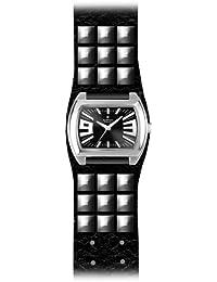 Alpha Saphir Alpha Saphir 214B - Reloj analógico de caballero de cuarzo con correa de piel multicolor - sumergible a 30 metros