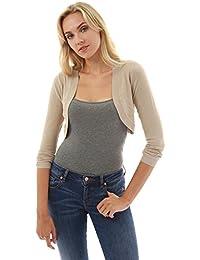PattyBoutik Mujer chaqueta de punto ligero encogimiento de hombros del bolero de punto