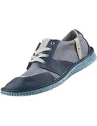 Mustang - Zapatos de Cordones de Sintético para Mujer Azul Blau (Dunkelblau/Blau)