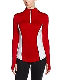 Tommy Hilfiger Th 1/4 Zip Shirt Tail Hem Pullover, Top de Sport Femme