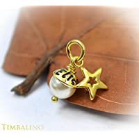 Namensperle Gold, 333, Namensanhänger, Goldanhänger mit Gravur