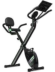 Cecotec Heimtrainer Xbike Pro. Faltrad Magnetische. Pulsuhr. LCD Display. Widerstand Variable. Komfort Sattel mit Rückenlehne und seitliche Griffe. Halterung für Tablet. Rollen.