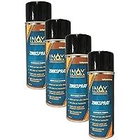 Inox Zinc Spray 400ml, 4x–Protección anticorrosión de imprimación para todos los metales