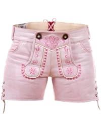 Highlight! Sexy Damen Trachten Ledershorts Pink Princess aus weichem Rindleder Gr. 32-48
