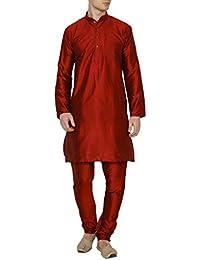 Royal Mens Silk Blend Festive Kurta Churidar Set