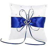 Cuscino Portafedi Bianco E Blu.Cuscino Portafedi Decorazioni Per Interni Casa E Amazon It