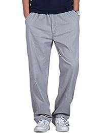 345bcb5f4b20 Pantaloni Casual Larghi Sottili Estivi Da Uomo Pantaloni Dritti In Cotone  Con Lino Di Grandi Dimensioni