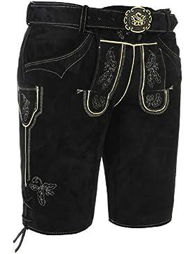 Michaelax-Fashion-Trade Spieth & Wensky - Herren Trachten Lederhose mit Gürtel, Veit (261302-0269)