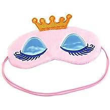 ANKKO Antifaces para dormir diseño corona, Máscaras ojos resto relajarse sueño (Rosa)
