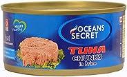 Oceans Secret - Canned Tuna Chunks in Brine, 180g (Pack of 2) | Immunity Booster | Superfood