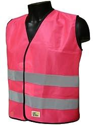 L2S Visiokid - Chaleco de seguridad para niño rosa rosa Talla:XS