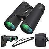 High Power Binoculars, Kylietech 12x42 Binocular for Adults with BAK4 Prism, FMC Lens