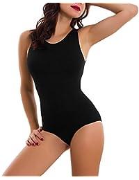 Body Donna Intimo Microfibra Elasticizzato Spalla Larga Slim Nuovo Rt9093 Body