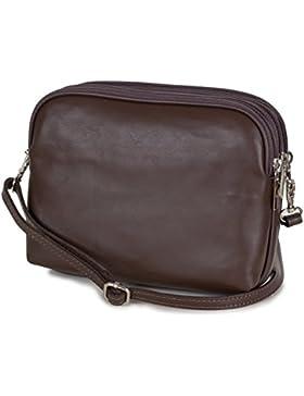 8e539de185c72 Taschenloft kleine italienische Damen Umhängetasche aus weichem Nappa Leder  (20x16x9cm)