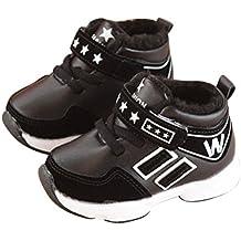 Odejoy Kleinkind Jungen Mädchen W Turnschuhe Kinder Laufen Sport Schuhe Säugling Baby Beiläufig Ausbildung Schuhe Behalten warm Winterschuhe Plüsch Sterne Trainer Klett-Turnschuhe
