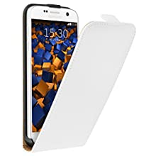mumbi PREMIUM Etui à clapet pour Samsung Galaxy S7 - Étui de protection à rabat Flip Style blanc