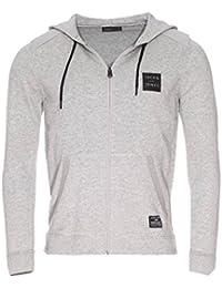 Jack and jones - Payton grey mel cap pull - Vestes sweats zippés capuche