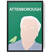 David Attenborough Poster // Artwork - Póster - Minimalist - Inspirational - Colourful- Minimalist - arte - Minimalista - Inspirador - Arte retro