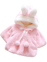 SMARTLADY Nuevo Bebé Invierno Ropa de abrigo con Capucha del orejas de conejo de manga larga