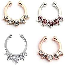 vcmart falso Septo Anillo sintética oro y plata Rosegold Non Piericng Body Jewelry