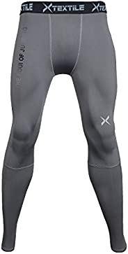Xtextile Mens Sports Compression Pants, Cool Dry Sports Tight Leggings for Gym, Basketball, Cycling, Yoga, Hik