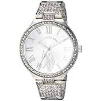 U.S. Polo Assn. Womens Quartz Watch, Analog Display And Stainless Steel Strap - USC40322