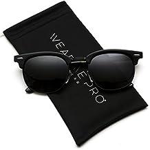 WearMe Pro Men Lunettes de soleil à monture demi-lune polarisée Full ... 48281ca0b1cd