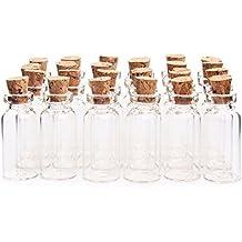 2 ml 16 x 35 mm Tiny vacío Borrar Cork botellas de vidrio viales con tapón de corcho botella de cristal en miniatura pequeño mini botellas de cristal con ...