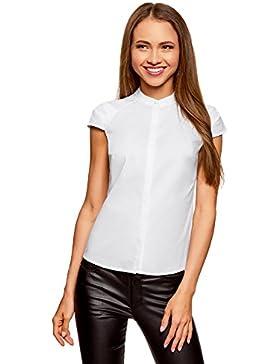 oodji Ultra Mujer Camisa de Mang