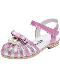 EOZY Bas Marche Chaussures Bébé Fille Enfant Perles Soft-Soled Princesse Été Sandales Shoes