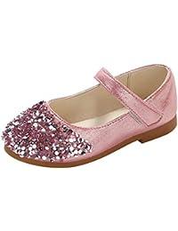 ce9c7435b Niñas Zapatos niños Moda Princesa Zapatos Primavera y otoño Zapatos Planos  de Fiesta Casual de Cuero