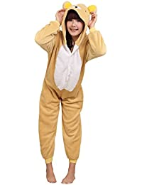 Amour-Tier Onesie Pyjama Blau Stich Kostüme Schlafanzug Erwachsene Unisex Tieroutfit tierkostüme Jumpsuit (m, Rilakkuma)