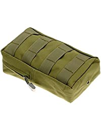Army Green : Gemini_mall Sports Tactical Military Nylon Outdoor Army Waist Bag Pouch Case Pack