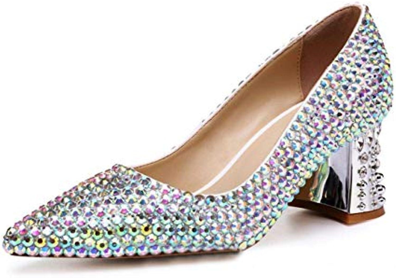 Scarpe con Tacco a Spillo di Coloreee Rosso per la Sposa (Coloreee   Coloreee, Dimensione   4.5UK(Foot Length 24cm)) | benevento  | Uomo/Donna Scarpa