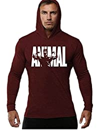 YeeHoo Hommes Musculation Sweatshirt Gym Workout Top Manches Longues à  Capuchon Débardeur f161092660b