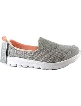 Ladies Ella memory foam slip on mesh Flexi pompe ballerine comfort, go scarpe misura 3–8