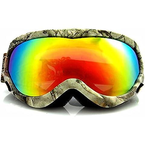 ZHGI La juventud exterior esférica galvanoplastia gafas de esquí gafas de esquí alpinismo Gafas antivaho sirviendo nieve,un espejo