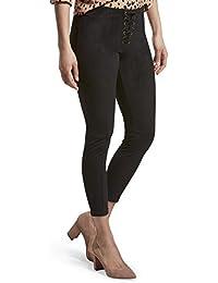 d968ec6f18a26e HUE Women's Lace-up Microsuede Skimmer Legging