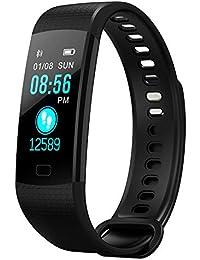 Pulsera Inteligente IP68 resistente al Agua, Pulsera Actividad, Ritmo Cardíaco Presión Arterial y Oxímetro Fitness Tracker relojes inteligentes para Android y iOS (Negro)
