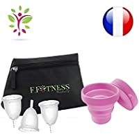 Fit Cup Set mit 3 Menstruationstassen, Größe 1oder 2+ Aufbewahrungstasche, waschbar + Sterilisator preisvergleich bei billige-tabletten.eu
