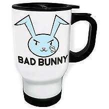 Bad bunny Taza de viaje térmica de color blanco 14oz 400ml dd572tw