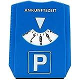 iTimo Autoparkuhr, Parkzeitanzeigescheibe, mit Windschutzscheiben-Schneeschaufel, ABS, Blau