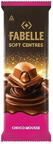 Fabelle Soft Centres Chocolate - Choco Mousee, 128g (Pack of 3)
