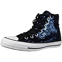 Converse Chuck Taylor All Star Sequin Hi Midnight Indigo Textile Trainers