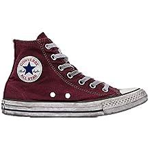 49f478fdb77380 Converse Sneakers Ctas Canvas Ltd Hi Bordeaux Vintage 160152C (39.5 -  Bordeaux)