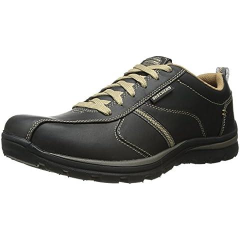 Skechers SuperiorLevoy - Zapatillas de piel para hombre,