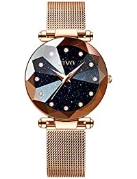 CIVO Relojes para Mujer Reloj Damas de Malla Impermeable Lujo Minimalista Oro  Rosa Elegante Banda de Acero Inoxidable Relojes de Pulsera… 8c746dde899c