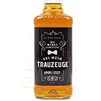 Flaschenetikett, Trauzeuge, Aufkleber, Trauzeuge fragen, Whisky oder Bierflasche, Hochzeit, Mann